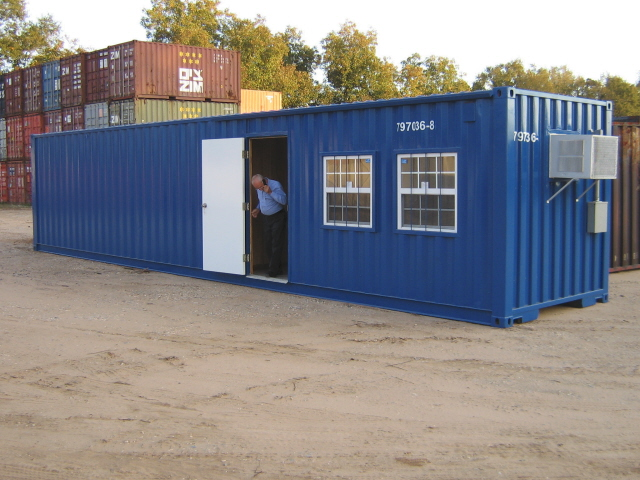 One of our office containers in Pensacola FL